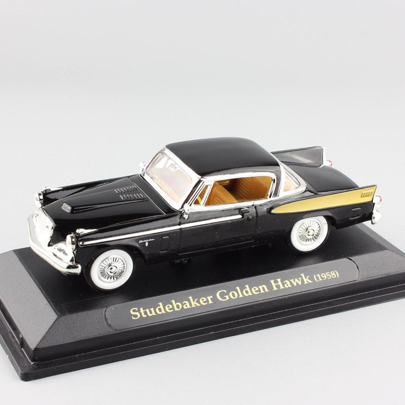 1:43 Scale kids luxury 1958 Studebaker Golden Hawk vintage coupe diecast metal model old Styling auto Car miniatures toys toys 1 43 luxury car model audi rs5 coupe diecast model car 3 colors classic toys car replica