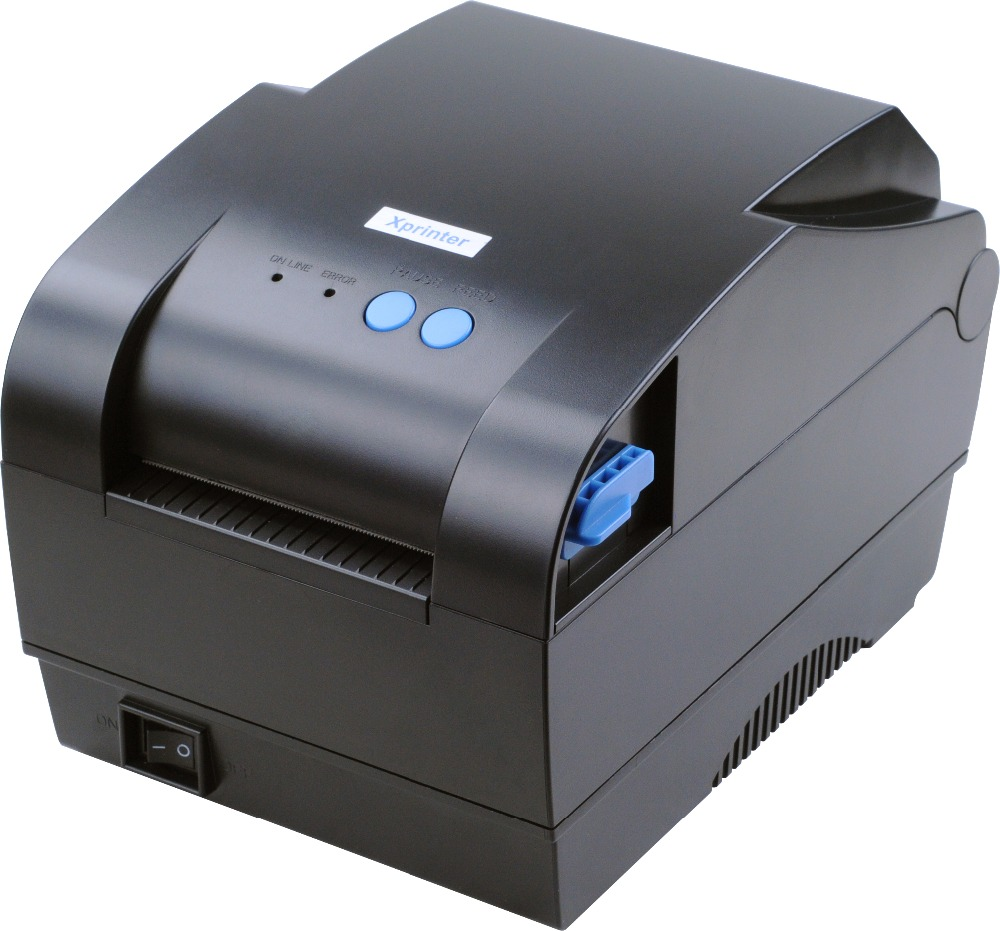 XP-365B 20mm-80mm print width Direct Thermal barcode label printer bar code QR code printer supermarket direct thermal printing label code printer