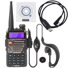 NKTECH BAOFENG UV-5RE Dual Band VHF UHF 136-174/400-520MHz 5W CDCSS FM Ham Transceiver Two Way Radio  USB Programming Cable