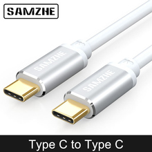 SAMZHE USB 3.1 Type C to Type-C Cable Fast Charger Cable for Macbook Pro Samsung S8 S9 Nexus 5X,Nexus 6P,OnePlus 2,ZUK Z1 цены