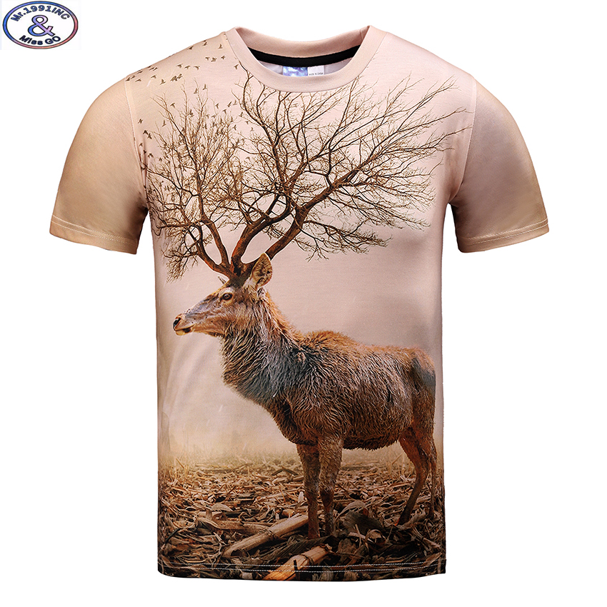 Mr.1991 brand reindeer printed 3D t-shirt for boys and girls New 2017 - Children's Clothing
