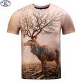 Mr.1991 brand reindeer printed 3D t-shirt for boys and girls New 2017 summer style teens t shirt big kids 11-20years  tops A36