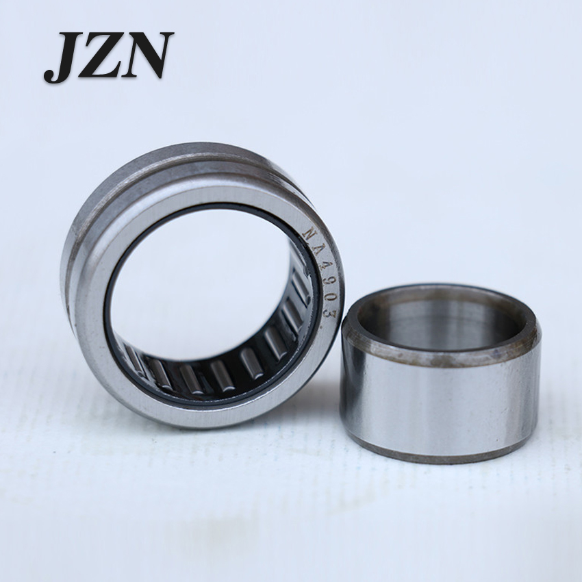 Free Shipping!  2PCS Solid Collar Needle Roller Bearings With Inner Ring Bearing NKI25/20