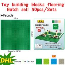 Wholesale 50pcs Toy building blocks flooring 25.6*25.6cm Compatible city house  Marvel DC Superhero minifigures kids gifts toys