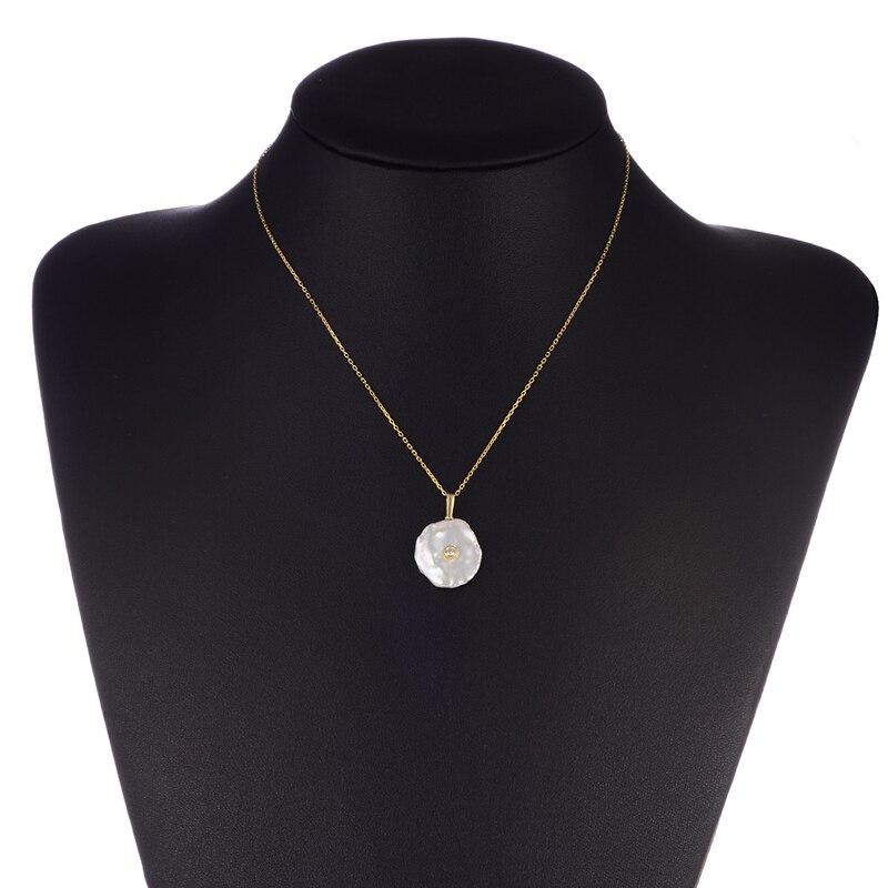 Hongye Nieregularny naszyjnik z pereł Biały różowy Płaski - Wykwintna biżuteria - Zdjęcie 6
