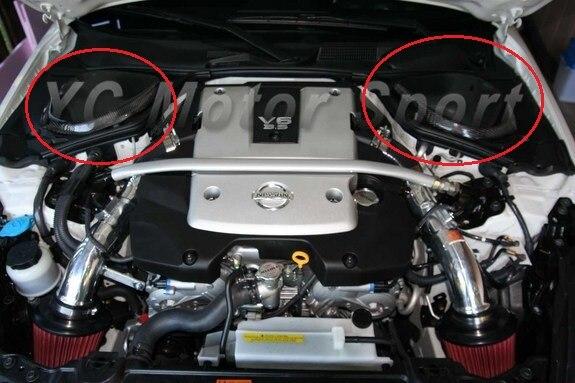 Car Accessories Carbon Fiber Bodykits Fit For 2002 2008 350Z Z33 Brake Fluid & Battery Cover 2pcs Car styling|fluid| |  - title=