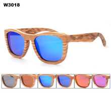 2017 New Arrival Handmade Wooden Aviator Polarized Sunglasses with mirror coating Hot Sale Free Shipping