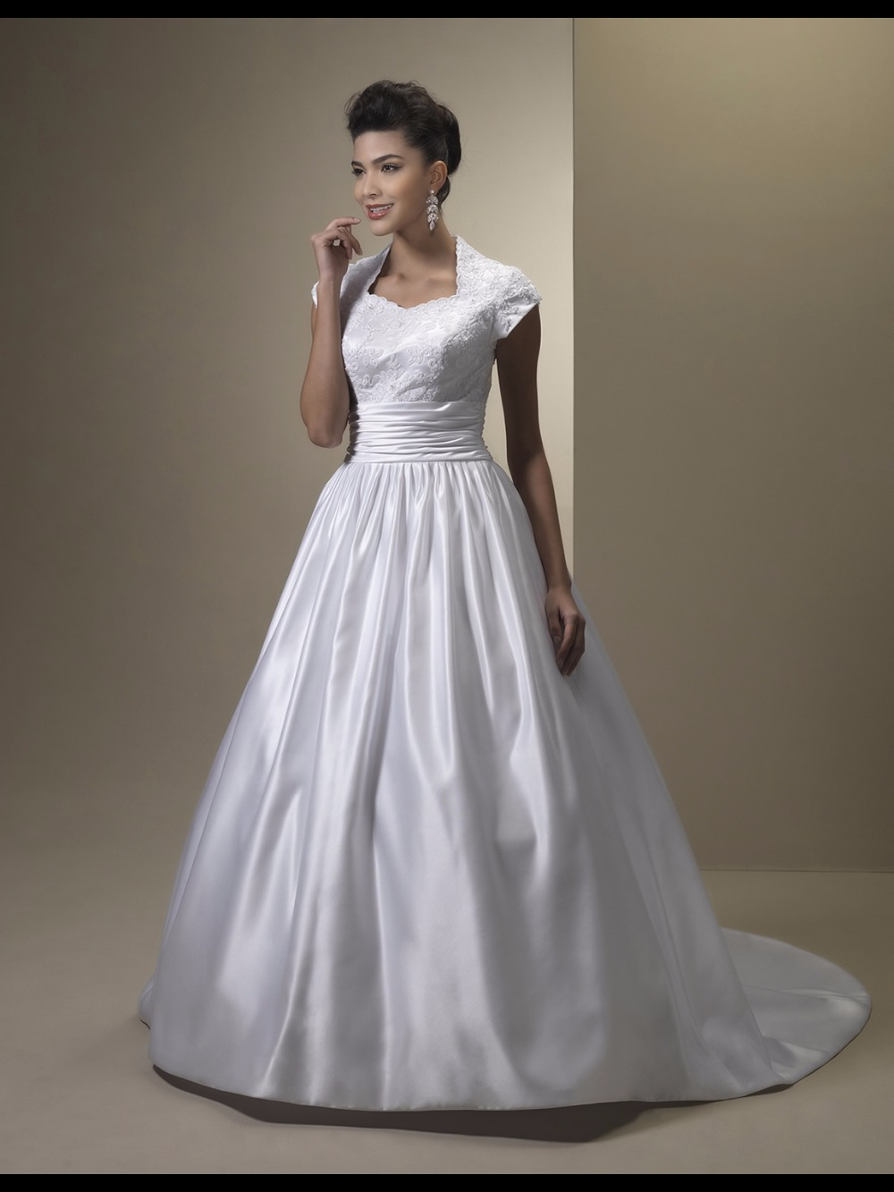 Vestido De Noiva Mermaid Modest Wedding Dresses 2019 With Cap Sleeves Satin Buttons Informal Country Reception Wedding Gowns Weddings & Events