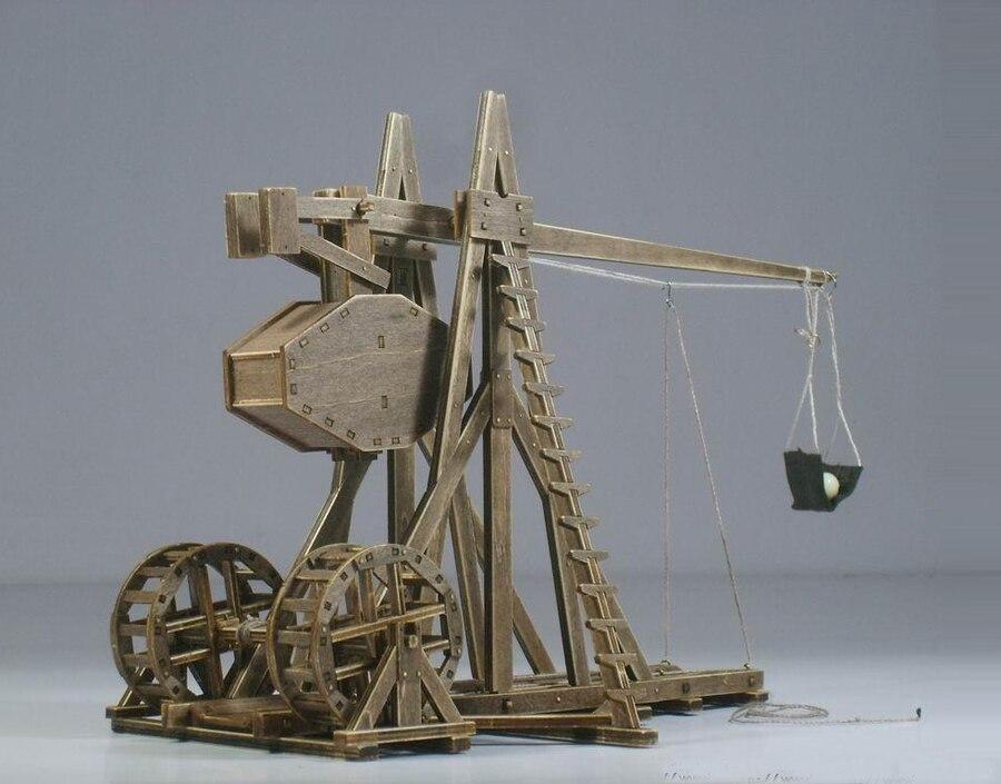 De Leeftijd van empires model kits mangonel Trebuchet Houten Model Puzzel Speelgoed-in Figuren & Miniaturen van Huis & Tuin op  Groep 1