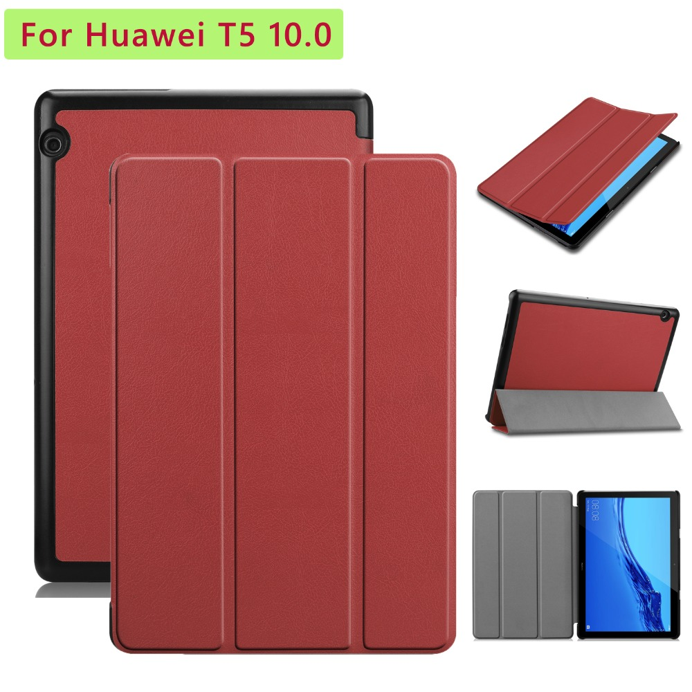 New Case For Huawei Mediapad T5 10.0 Folio Standing Protective Cover For Huawei T5 10.0 With Stylus Pen
