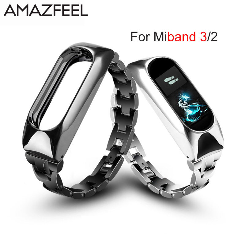 Metal Strap For Xiaomi Mi Band 3 Mi Band 2 Bracelet Screwless Stainless Steel Bracelet MiBand 3 2 Wristbands Replace Wrist Strap цена