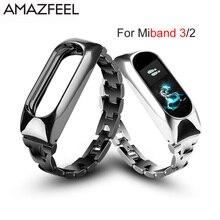 Metal Strap For Xiaomi Mi Band 3 Mi Band 2 Bracelet Screwless Stainless Steel Bracelet MiBand 3 2 Wristbands Replace Wrist Strap