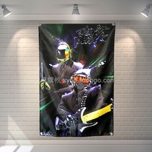 DAFT PUNK Rock Band Music Poster Banners Hanging Pictures Art Waterproof Cloth Music Festival Banquet Party Party Home Decor(China)