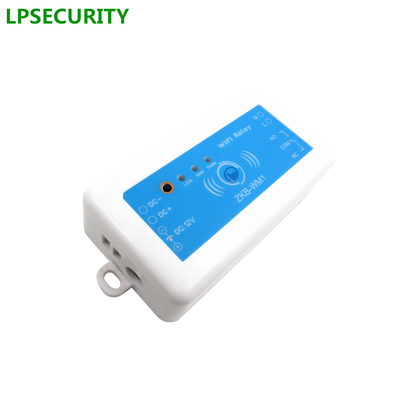 LPSECURITY Gate & Door Access Control Single Relay Wifi Remote Smart Switch Module Supporting IOS Android APP/Wifi Door Opener