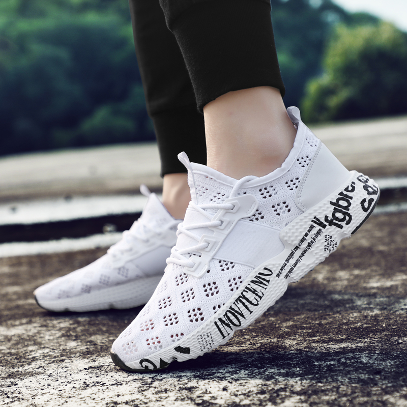 Summer Men Casual Shoes Air Mesh Breathable Running Lace-Up Sneaker Size 6-15