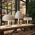 Постмодерн минималистичный грибной дизайн настольная лампа скандинавский креативный белый Гальванизированный Металл LED украшение стола ...