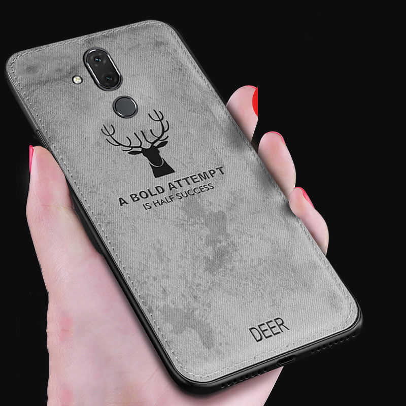 For OPPO Find X Retro Cloth Skin Deer Pattern Protective Cover For OPPO A7  A83 A3 A5 F9 A7X K1 R15X Shockproof Case R17 Pro