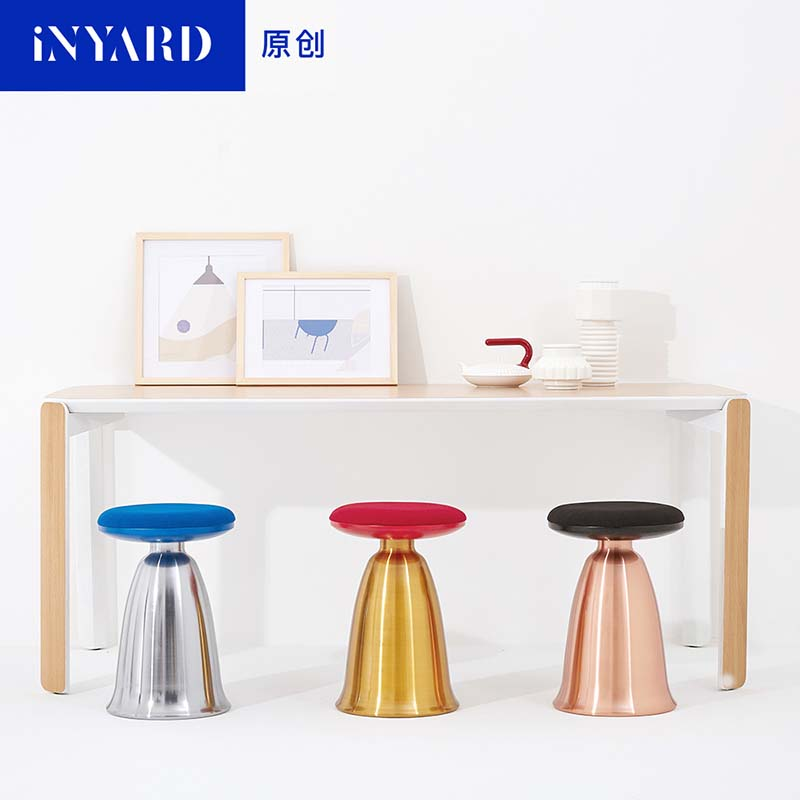 [InYard original] soft metal minimalist art deco Nordic comfortable stool stool table board plating