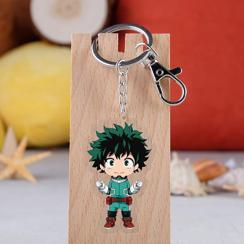 Anime My Hero Academia Cosplay Prop Accessories All Might Midoriya Izuku Todoroki Shoto Bakugou Katsuki Keychain Key Ring