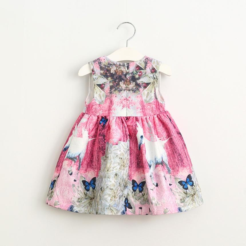 New Kids Girls Jacquard Unicornio Impresión Floral Vestido de Fiesta ...