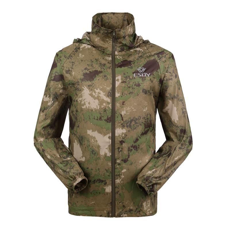 Outdoor Camouflage Skin Dünner UV-Schutzmantel Outdoor-Wanderjacke - Sportbekleidung und Accessoires - Foto 5