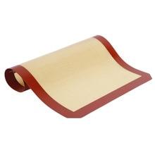 Non-Stick Silicone Baking Mat Pad, 42*29.5cm Sheet  Glass Fiber Rolling Dough Mat, Large Size for Cake Cookie Macaron