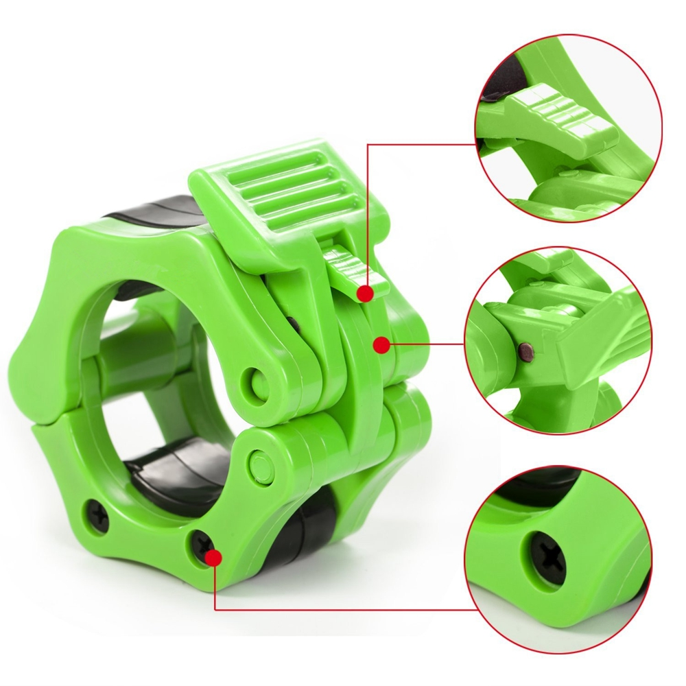 Fait Adolph Dumbbell clip 1 Pair 30mm Spinlock Barbell Collar Lock Dumbell Clips Clamp Weight Lifting Bar Gym Dumbbell Fitness Body Building For fitness equipment