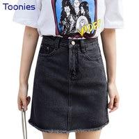 Summer Style Fashion Denim Skirt Female Package Hip Skirt High Waist A Line Jeans Skirts Slim