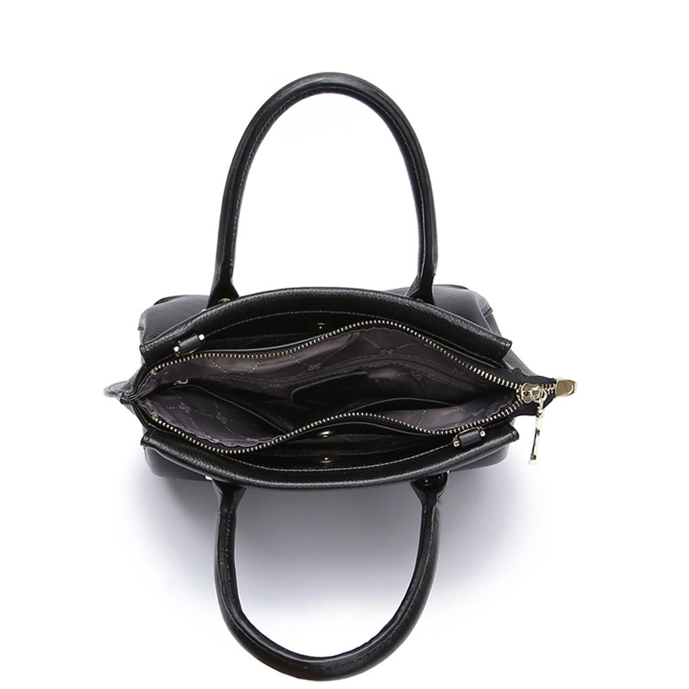JIANXIU جلد طبيعي اليد الإناث الكتف أكياس Crossbody للنساء حقيبة يد جلدية السيدات حقيبة ساعي كبير الأعلى مقبض حقيبة-في حقائب الكتف من حقائب وأمتعة على  مجموعة 3