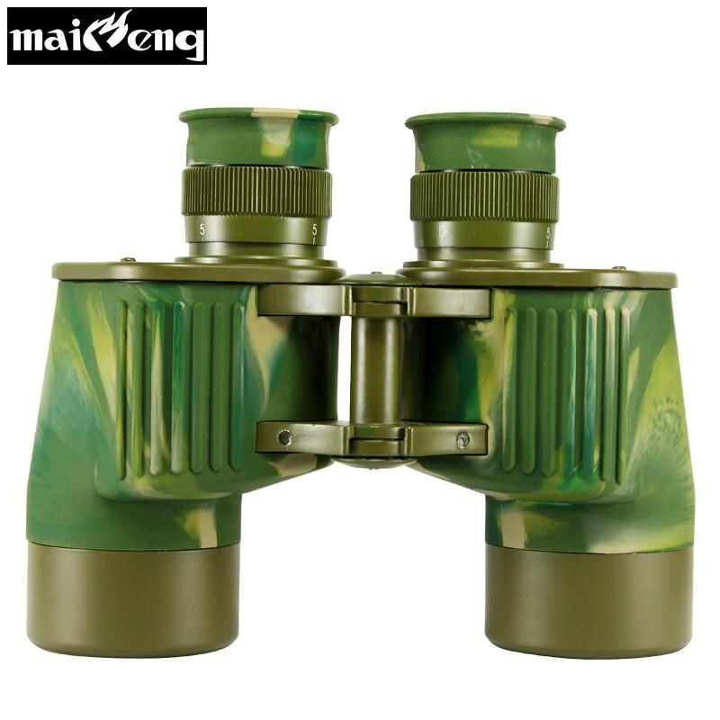 Original Chinois Militaire Jumelles Monde Guerre II Puissant Télescope 7X40 Haute Qualité Plein-BAK4 métallique binoculaire large-ange