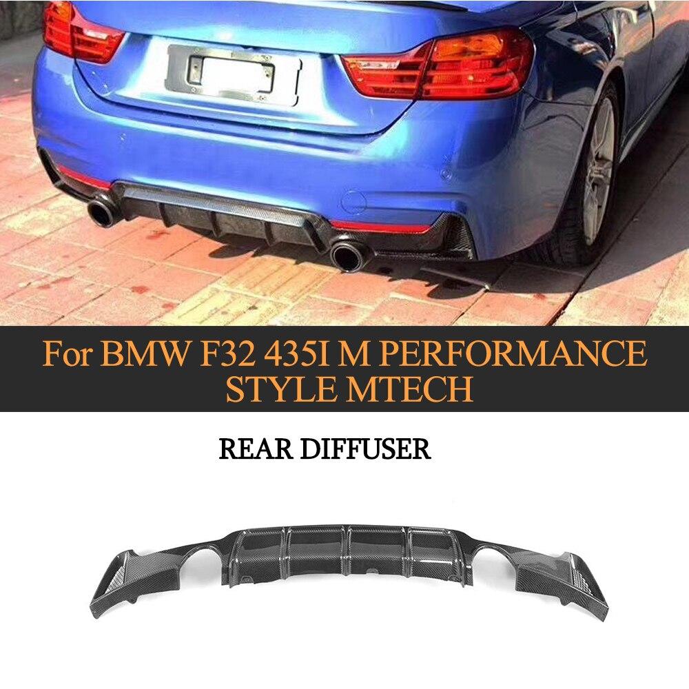 Lèvre de diffuseur de pare-chocs arrière de Fiber de carbone de voiture pour BMW F32 F33 M Sport 2014-2017 435i aileron de lèvre de pare-chocs 2 côté 1 sortie Non Standard