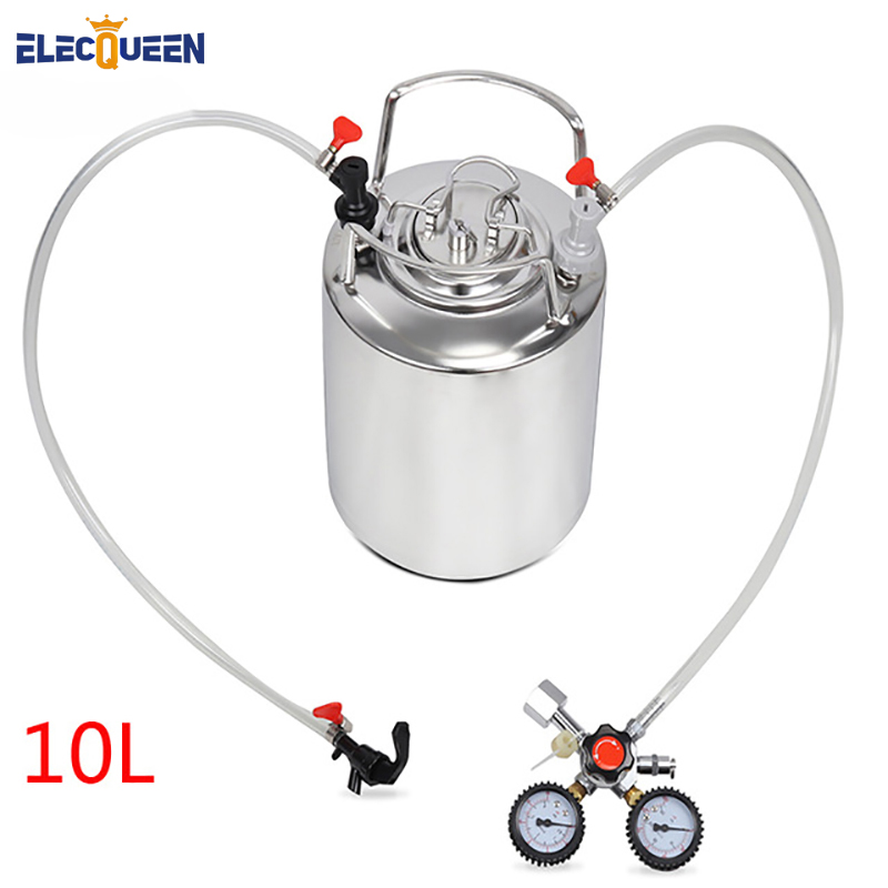 2 5 gallon 10L Cornelius style stainless steel Beer Keg Faucet Tubing Kit Co2 Regulator Dual