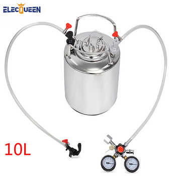 2.5 gallon 10L Cornelius style stainless steel  Beer  Keg & Faucet Tubing Kit & Co2 Regulator Dual Gauge - DISCOUNT ITEM  26% OFF All Category