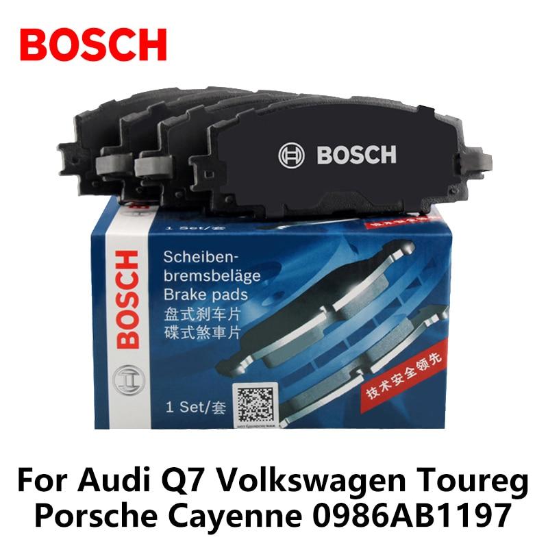 4pcs/lot Bosch Car Front Brake Pads For Audi Q7 Volkswagen Toureg Porsche Cayenne 0986AB1197 free shipping hot sale or01a4 front wheel motor 80mm kit ce en15194 approved