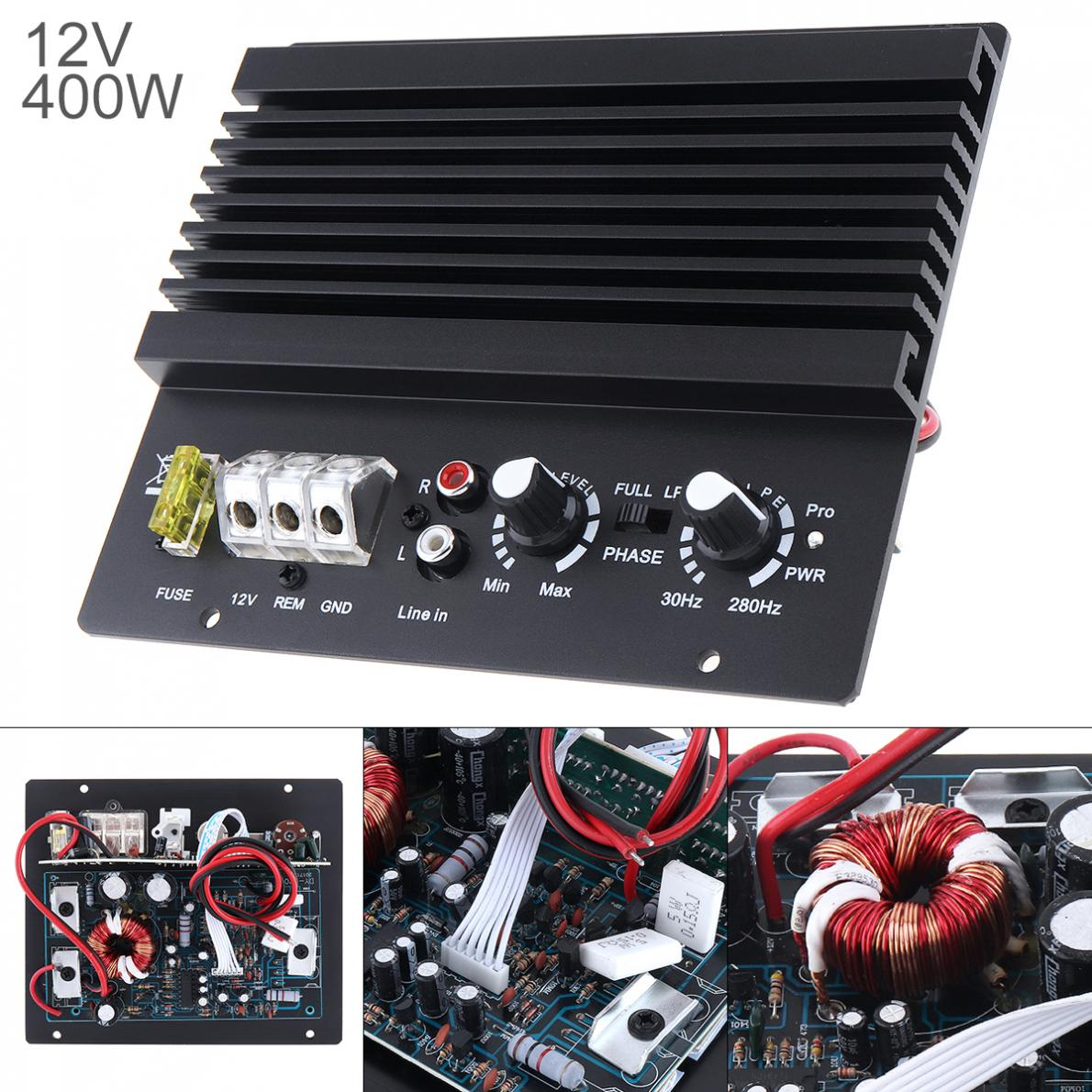 2 kanal 400W Class AB Digital Schwarz Aluminium Legierung High Power Auto Audio AMP Subwoofer Verstärker