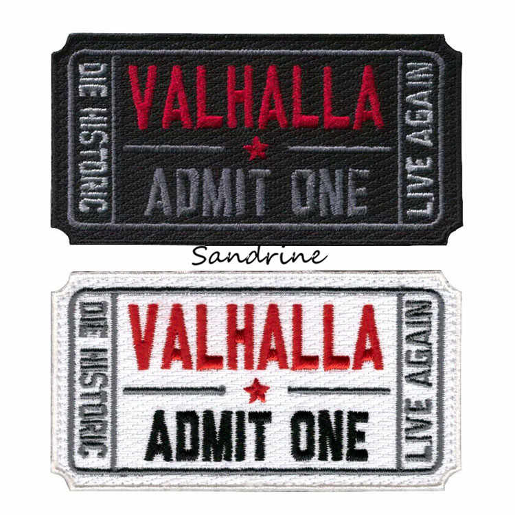 Ticket Naar Valhalla Moraal Militaire Tactische Vikings Mad Max Patches Leger Geborduurde Badges Stof Armband Stickers Haak/Lus