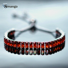 New Arrival!  Bracelets for Women, Fashion CZ Prong Setting Bracelet,Silver Plated,9 Colors,Can Mix