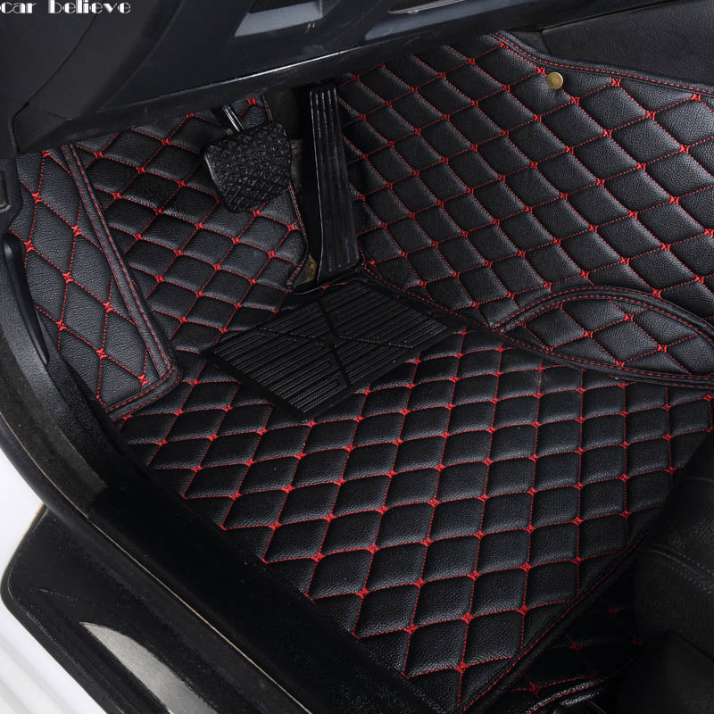 Car Believe Auto car floor Foot mat For volvo <font><b>xc90</b></font> s60 v40 s40 xc60 c30 s80 v50 xc70 waterproof car accessories styling image