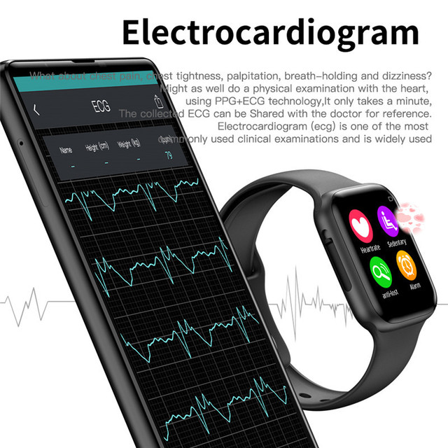 Soulusic W34 Bluetooth Call Smart Watch ECG Heart Rate Monitor Smartwatch Men Women for Android iPhone xiaomi band PK iwo 8 4 10
