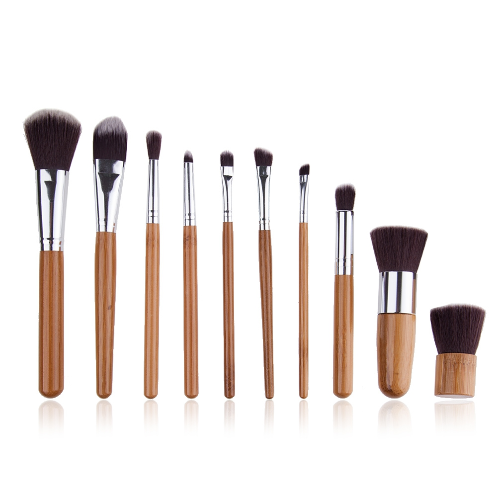 10pcs Makeup Brushes Set Pro Powder Blush Foundation Eyeshadow Eyeliner Lip Cosmetic Brush Kit Beauty Tools2 new 32 pcs makeup brush set powder foundation eyeshadow eyeliner lip cosmetic brushes kit beauty tools fm88