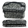 Wholesale 5* ( Zebra Pattern Foldable Makeup Cosmetic Hand Case Bag