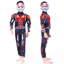 f8f14a49e403 Hot Movie Ant -man Muscle Costume Child Boys Ant man Cosplay Costume for Boys  Halloween Costume for Kids Fancy Dress with Masks