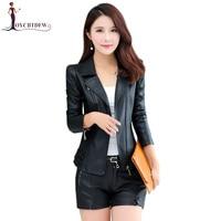 Black Real Plus Size M 4xl Harajuku Women Motorcycle Leather Clothing 2018 Autumn New Fashion Red Casual Bomber Lady Coat 268