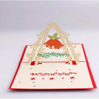 3d laser cut stereoscopic merry christmas handmade new year greeting invitations card business decorationenvelope