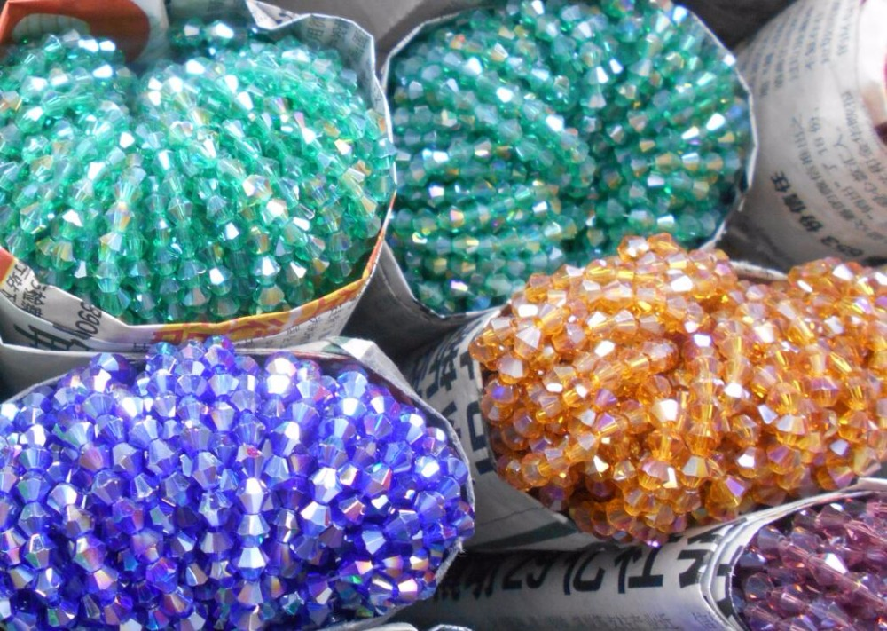 Jewelry & Accessories 110pcs Ab Colors Pick Color Bicone Loose Beads Glass Crystal Faceted Rondelle Bead For Jewelry Making Beneficial To Essential Medulla