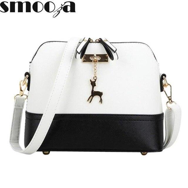 557ac4a495c3d4 SMOOZA heißer frauen Handtaschen Mode Shell Tasche Leder Frauen Messenger  Bags Mädchen für Umhängetaschen Dekorative Hirsch