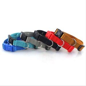Image 2 - Collar de perro para mascotas Collar de perro de Nylon de poliéster liso básico clásico con hebilla rápida a presión, puede combinar Correa y arnés