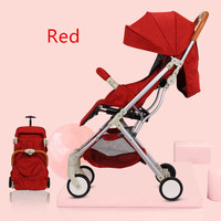 5.4 Kg Luxury Baby Stroller High Landscape Four wheeled Trolley Folding Portable Hot Mom Stroller Pram Bebek Arabasi Kinderwagen