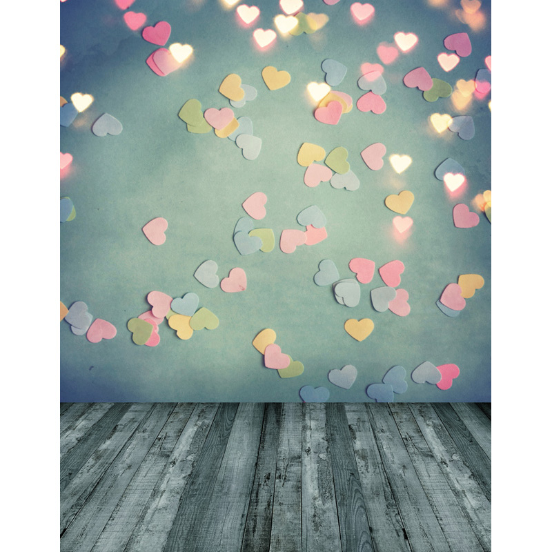 Customize washable wrinkle resistant print love heart wall photo studio backgrounds for birthday photography backdrops S-2535-A customize washable wrinkle free baby clock pink wall photography backdrops for newborn photo studio portrait backgrounds s 956