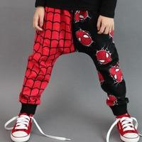 Kid Boys Red Black Spiderman Costume Child Fancy Cotton Harem Pants Birthday Party Cool Cobweb Clothing